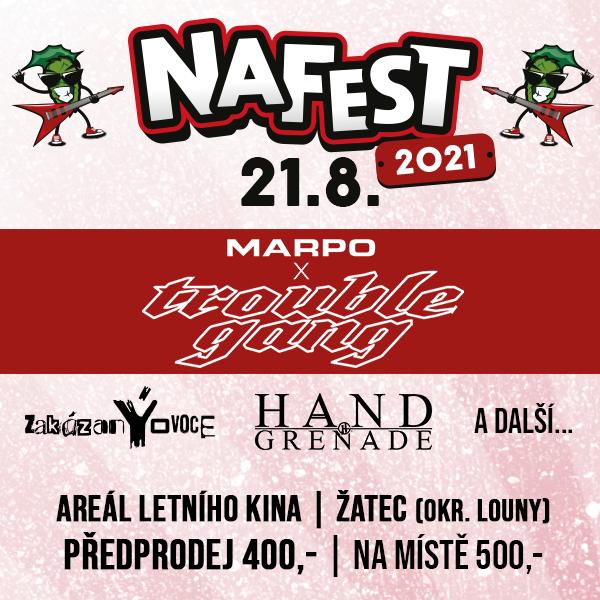 NaFest- festival v Žatci- MARPO&TROUBLEGANG, zakázanÝovoce a další -Letní kino Žatec
